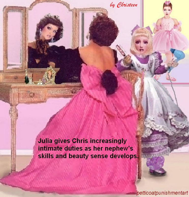 Christeen Sissy http://ajilbab.com/petticoat/petticoat-punishment-art-christeen.htm